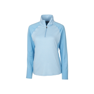 Cutter & Buck Ladies' Forge Tonal Stripe Half Zip